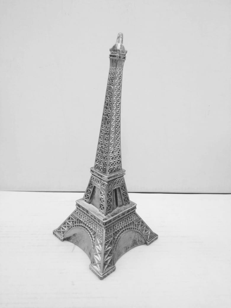 Buy Eiffel Tower showpiece with money box at bottom for kids   SP0175Online