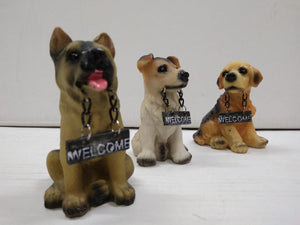 Buy Cute puppy dogs with welcome board   CT114 Online