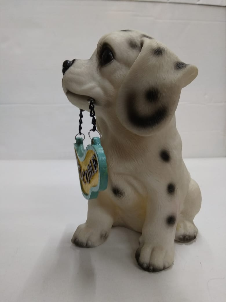 Cute Dog with Welcome board  SR024,