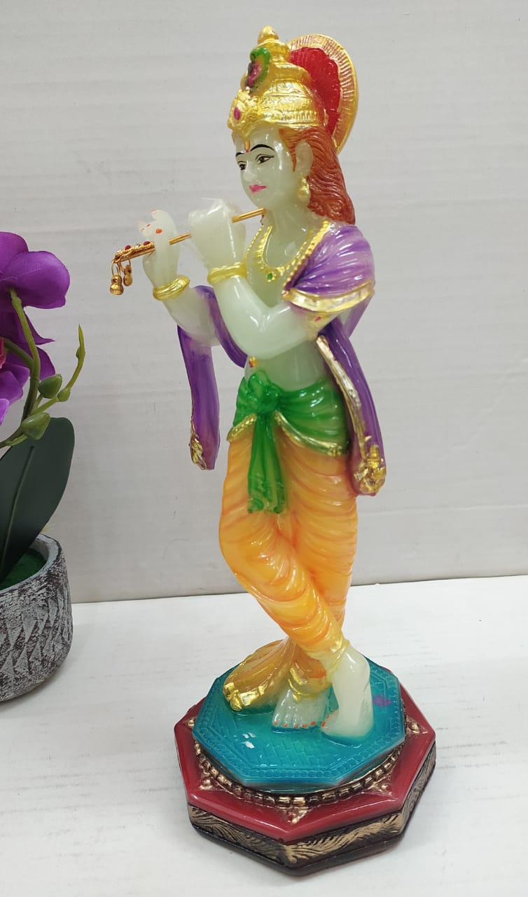 Buy Glow in dark Lord Krishna playing flute showpiece  MT06Online