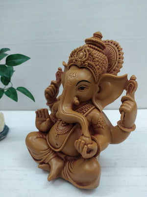 Ganesha with beautiful clay model finishing  MT19
