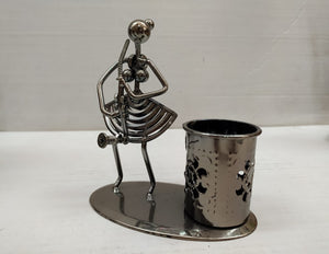 Buy Metallic Lady musician with Pen stand DC115Online