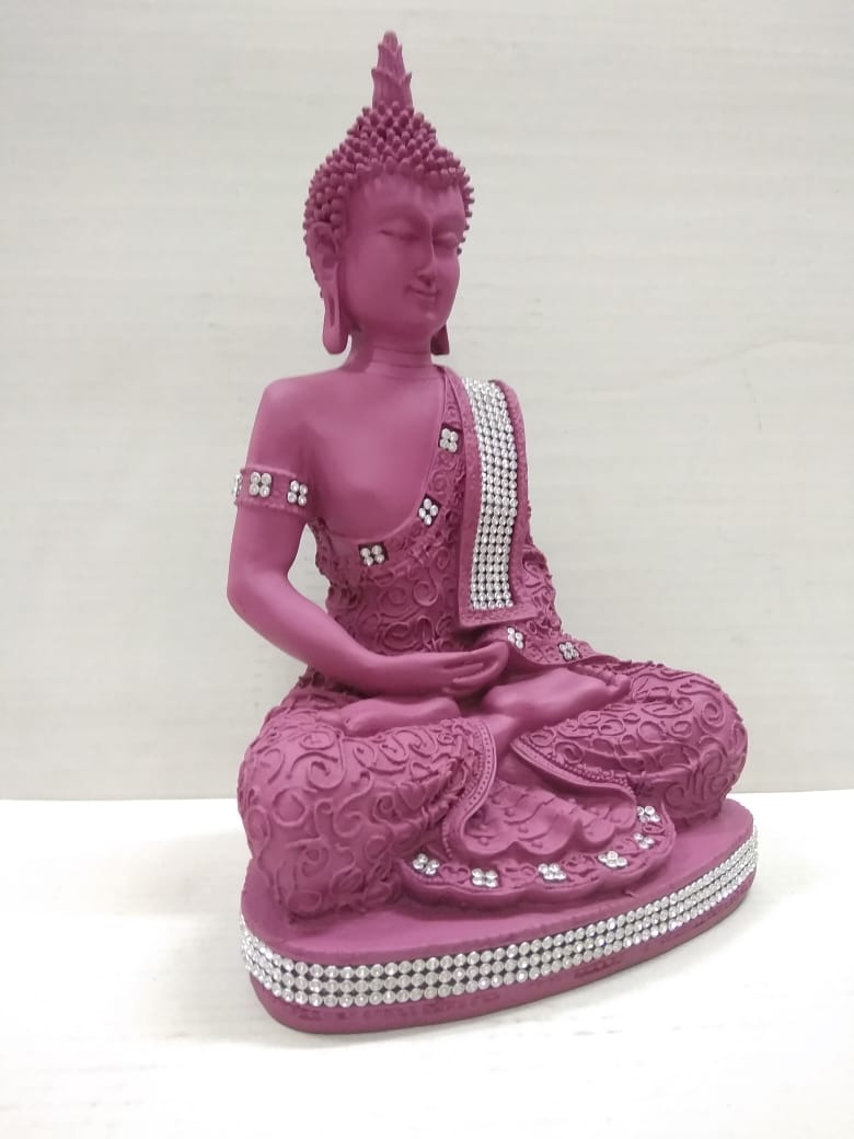 Meditating Budha with Stones finishing (MT33)