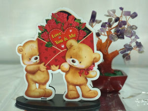 Cute couple Teddy standee - NY12