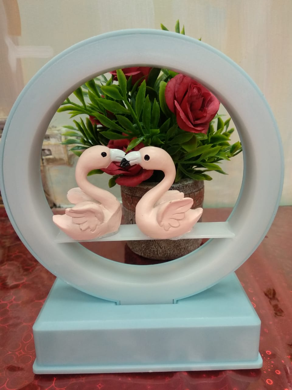 Buy Couple swans LED lamp and showpiece -CT98Online