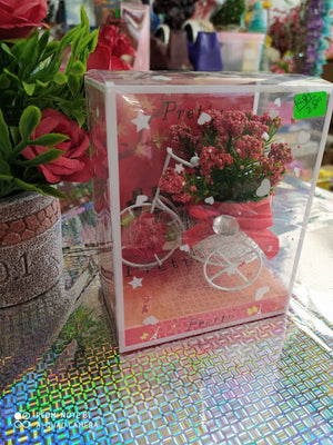 Valentines Cycle Rickshaw with flowers