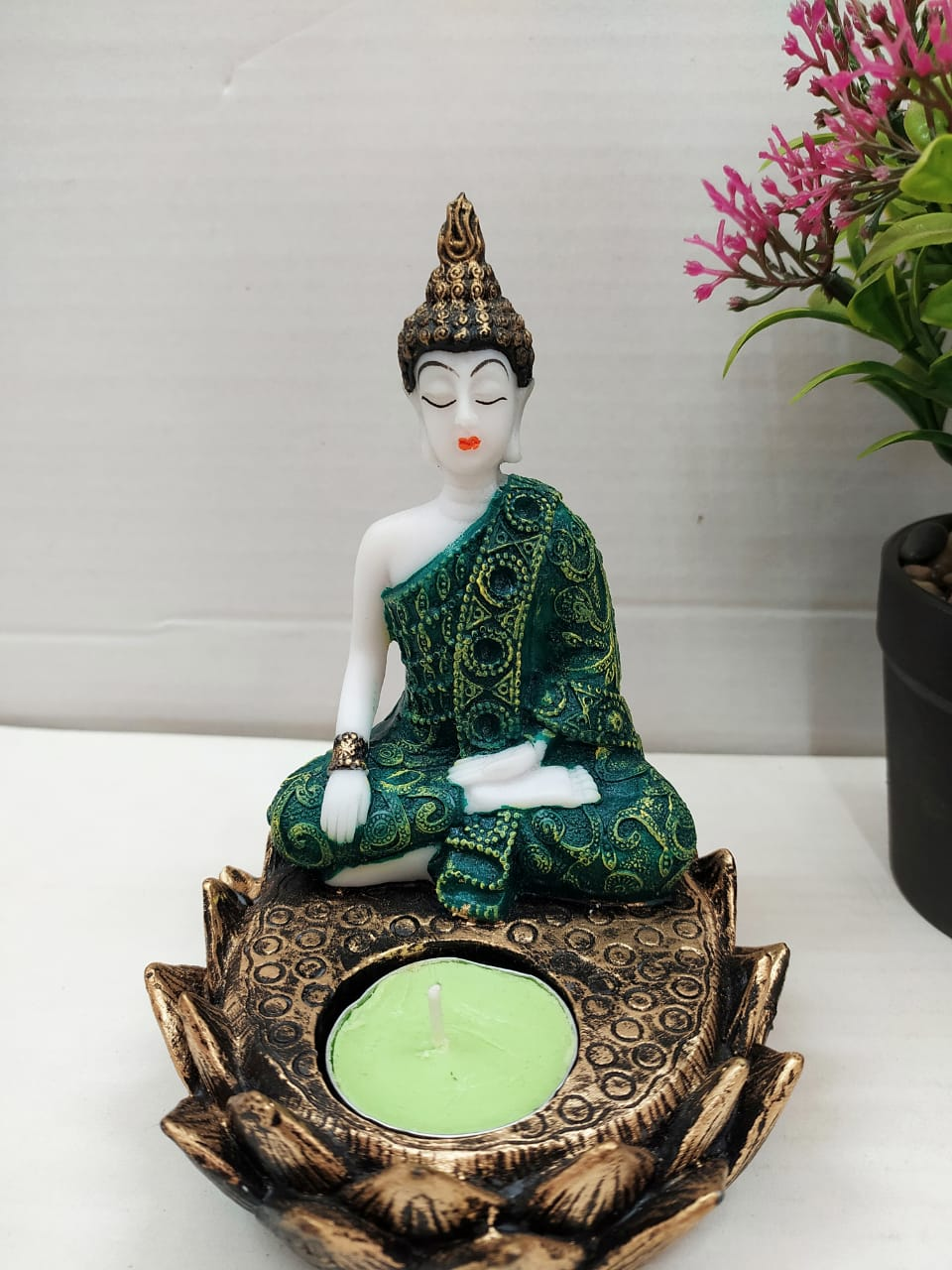 Buy Lotus Buddha with Candle holder NY6Online