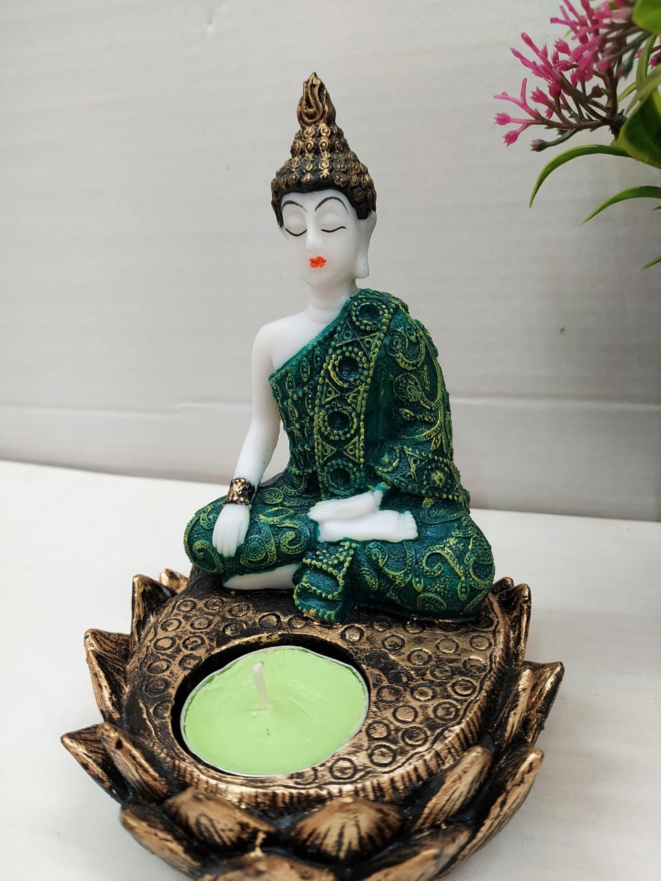 Buy Lotus Buddha with Candle holder NY6 Online
