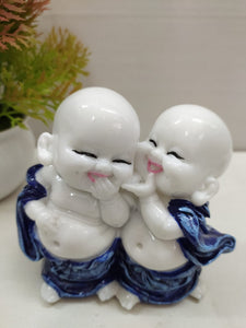 Dual laughing monk showpiece NY62