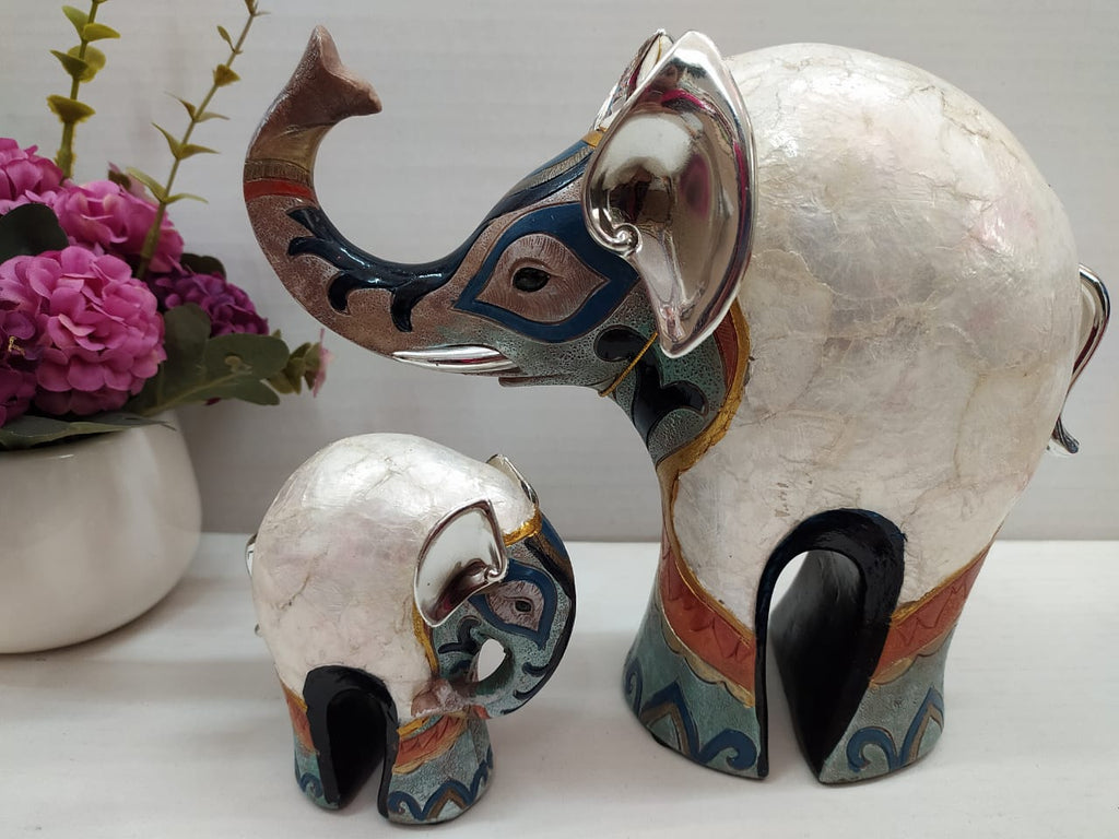 Buy Mother and baby elephant contemporary show piece DE25Online