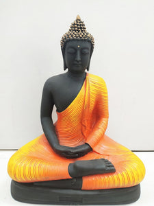 Meditating Buddha in Orange colour AK62
