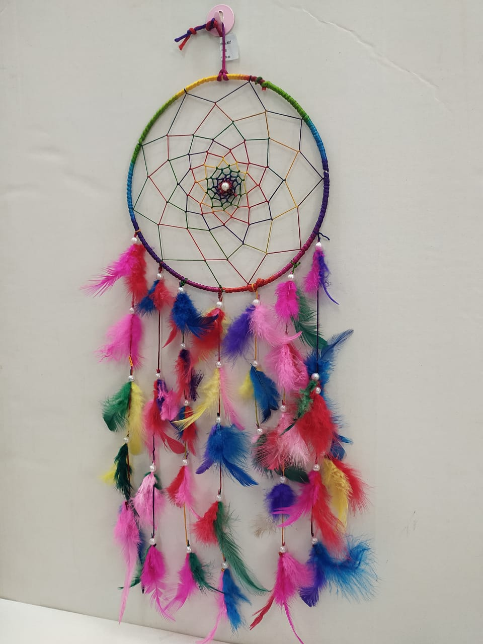Dreamcatcher- Fengshui Multi colour bird feathers NY146