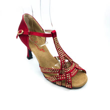 "Load image into Gallery viewer, Mia Red 2.7"" Heel size 2.5"