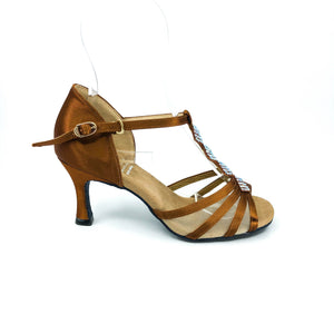 "Grace Dark Tan 2.7"" heel"