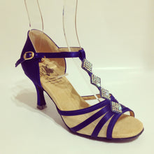 "Load image into Gallery viewer, Grace Blue 2.7"" Heel"