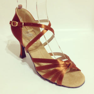"Basic Dark Tan 2.7"" Heel"