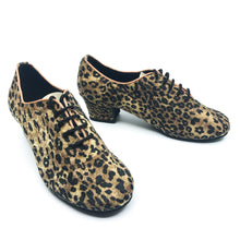 Load image into Gallery viewer, Terri Leopard Dance Shoes