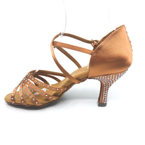 "Faye Dark Tan 3"" heel"