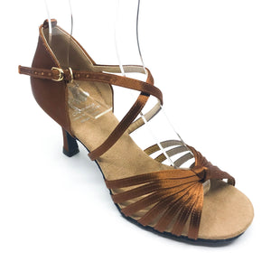 "Lisa Dark Tan 2.7"" heel"