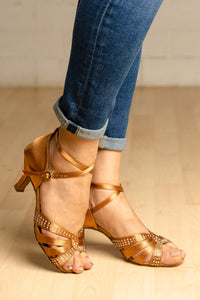 "Zoe Dark Tan 2.5"" Heel"