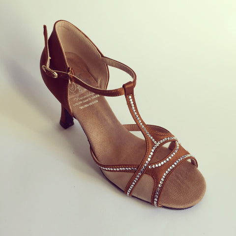 "Daisy Dark Tan 3.3"" Heel"
