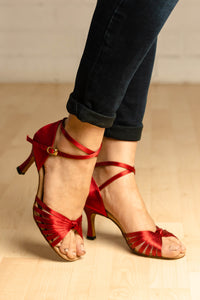"Lisa Red 2.7"" heel"