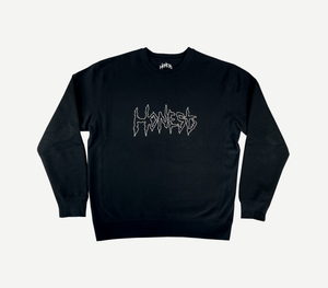 Outline Logo Sweater Black