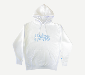 Outline Logo Hoodie White