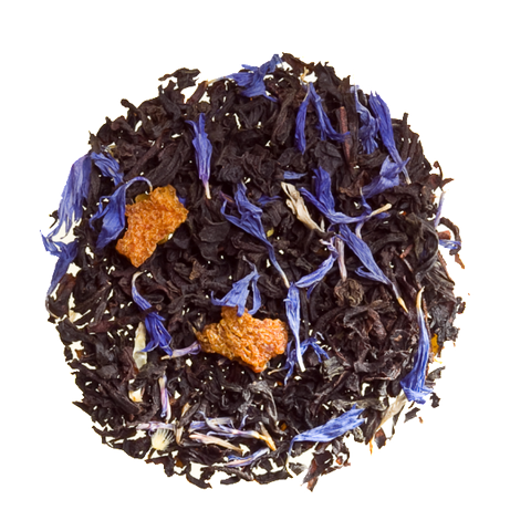 cream of earl grey, bergamot, orange, cornflowers, loose tea