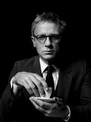 Daniel Craig enjoying a cup of tea