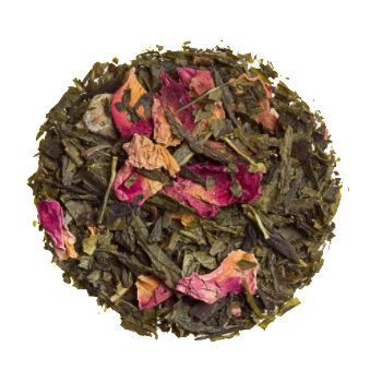 kyoto cherry rose loose tea green tea