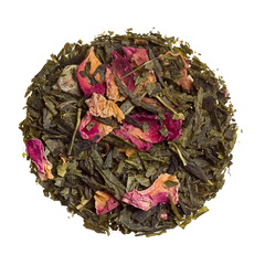 kyoto cherry rose loose green tea