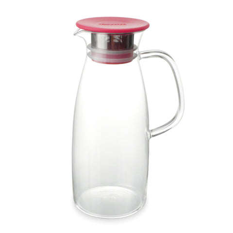 cold-steeping loose tea pitcher