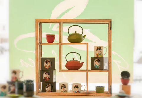 Good Life Tea store interior display