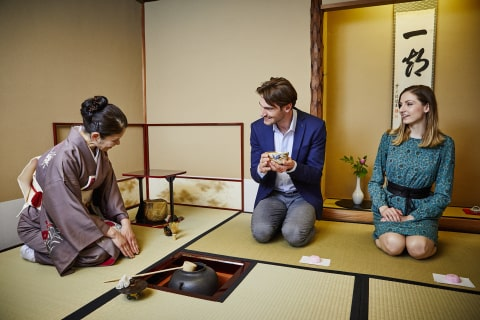 Japanese Tea ceremony enjoyed by Westerners