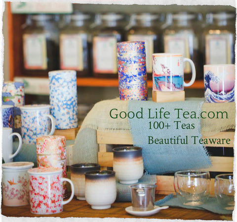 Good Life Tea interior picture showing Asian teaware