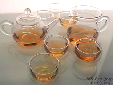glass tea service tea set