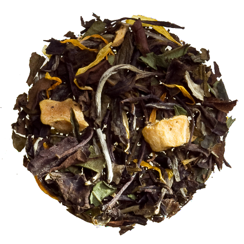 white peach summer iced tea loose tea