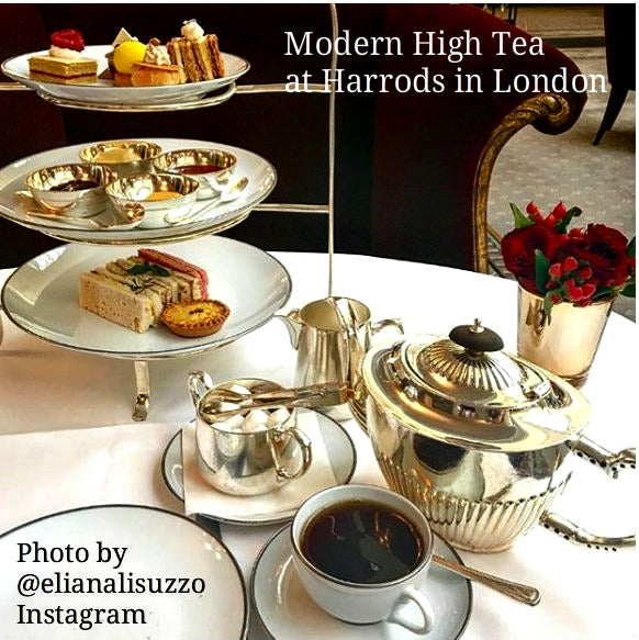 HIgh Tea English Style at Harrods of London
