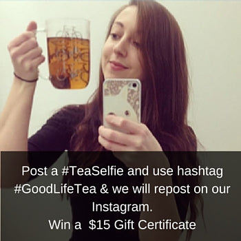 Tea selfie contest on Instagram