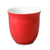 Glazed Japanese tea cups - red