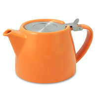 modern Ceramic Teapot with Loose Tea Infuser basket -assorted colors available