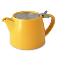simple to use Ceramic Teapot with Loose Tea Infuser basket