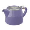 Drip Free Ceramic Teapot with Loose Tea Infuser basket - Assorted colors
