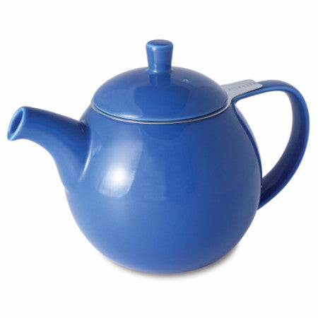 Round Ceramic Teapot with Loose Tea Infuser