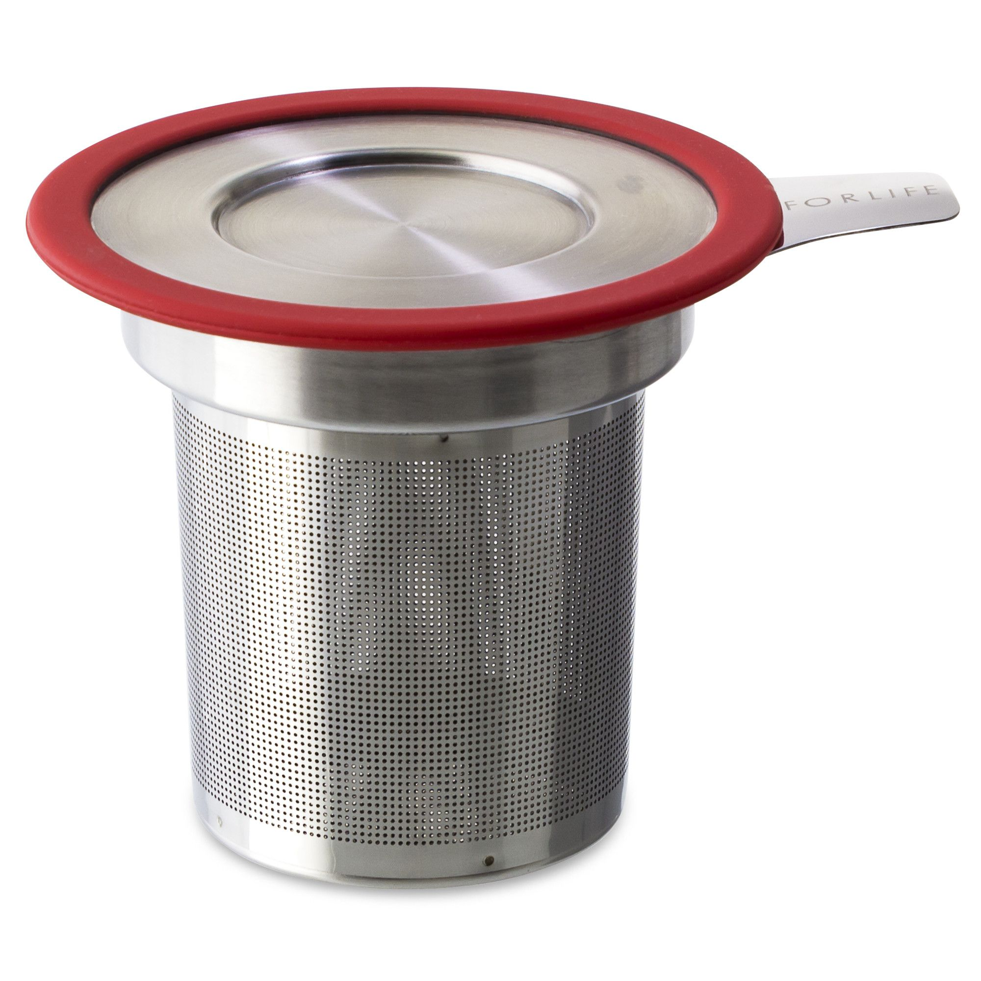 Large Stainless Steel Loose Tea Infuser (Strainer) with Lid - Good Life Tea