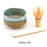 Green & Brown Matcha Bowl Set.