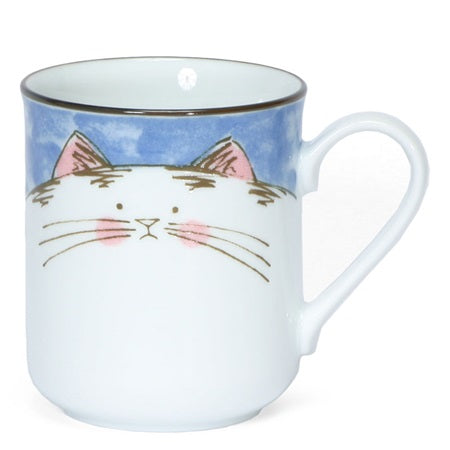 Japanese chubby cat mugs - Good Life Tea