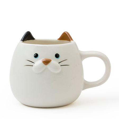 cat mug with ears and nose