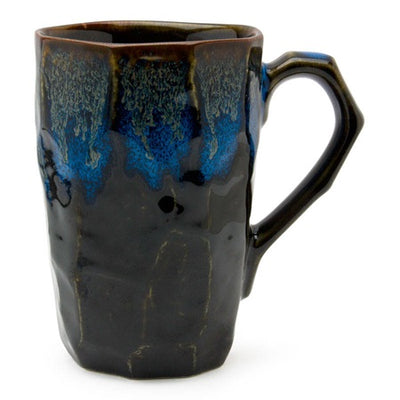 Charmed - Stoneware Tea Mugs blue black